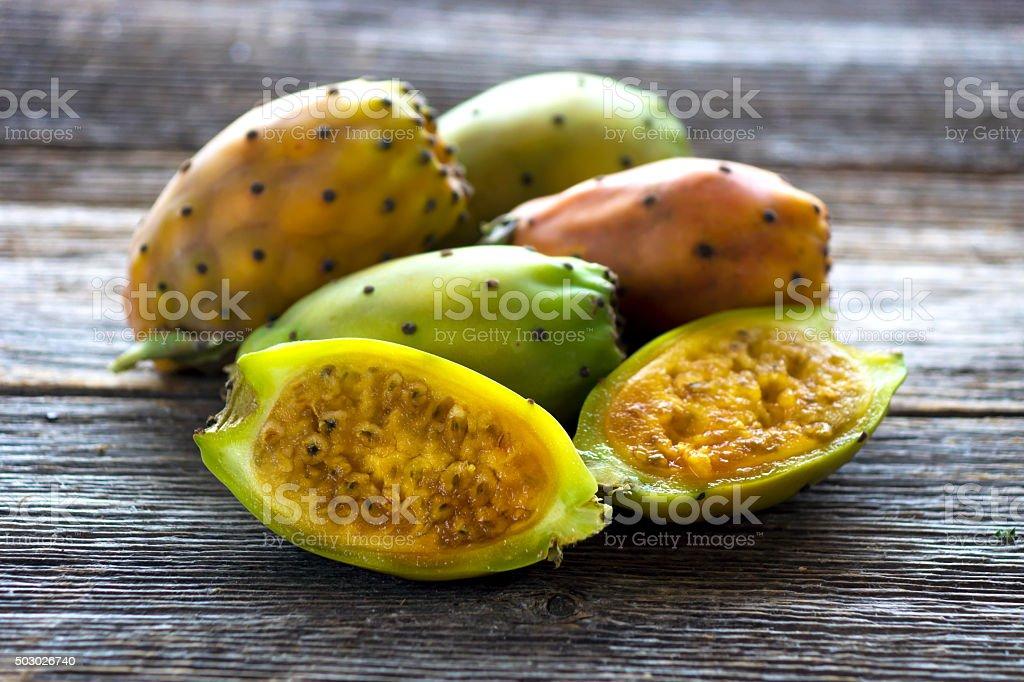 Cactus fig stock photo