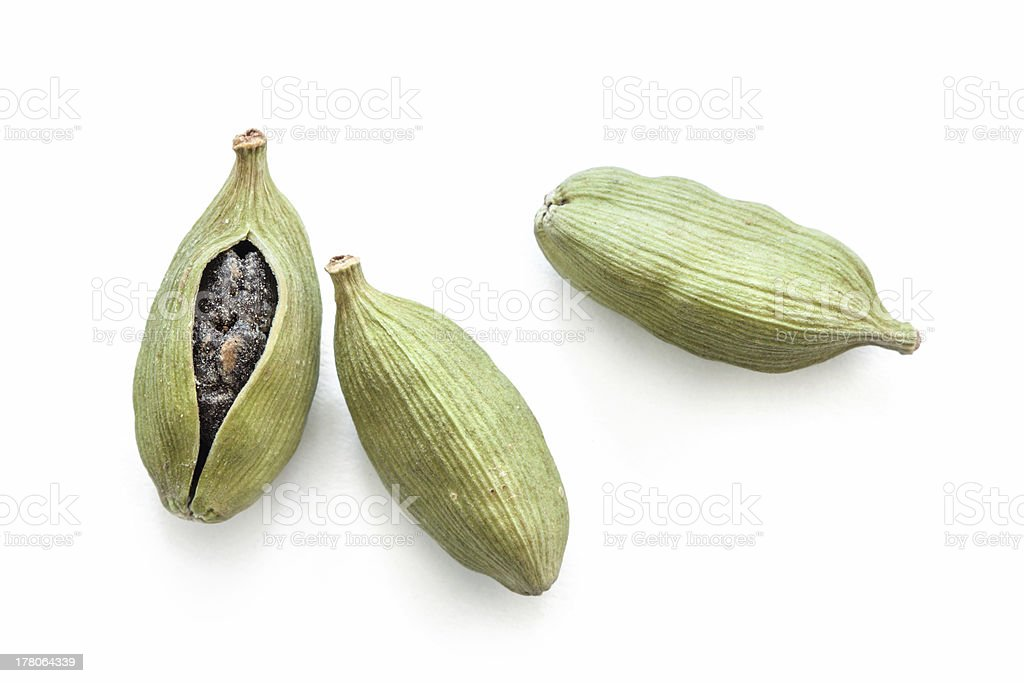 Cadamon pods stock photo