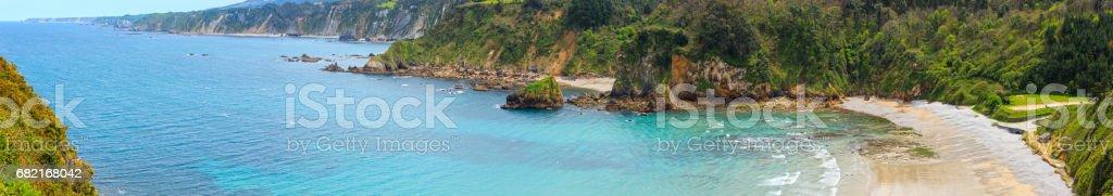 Cadavedo beach, Asturias, Spain. stock photo