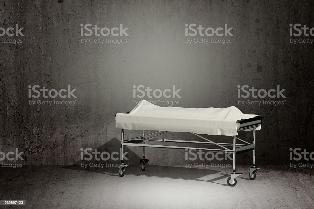 cadaver covered stock photo