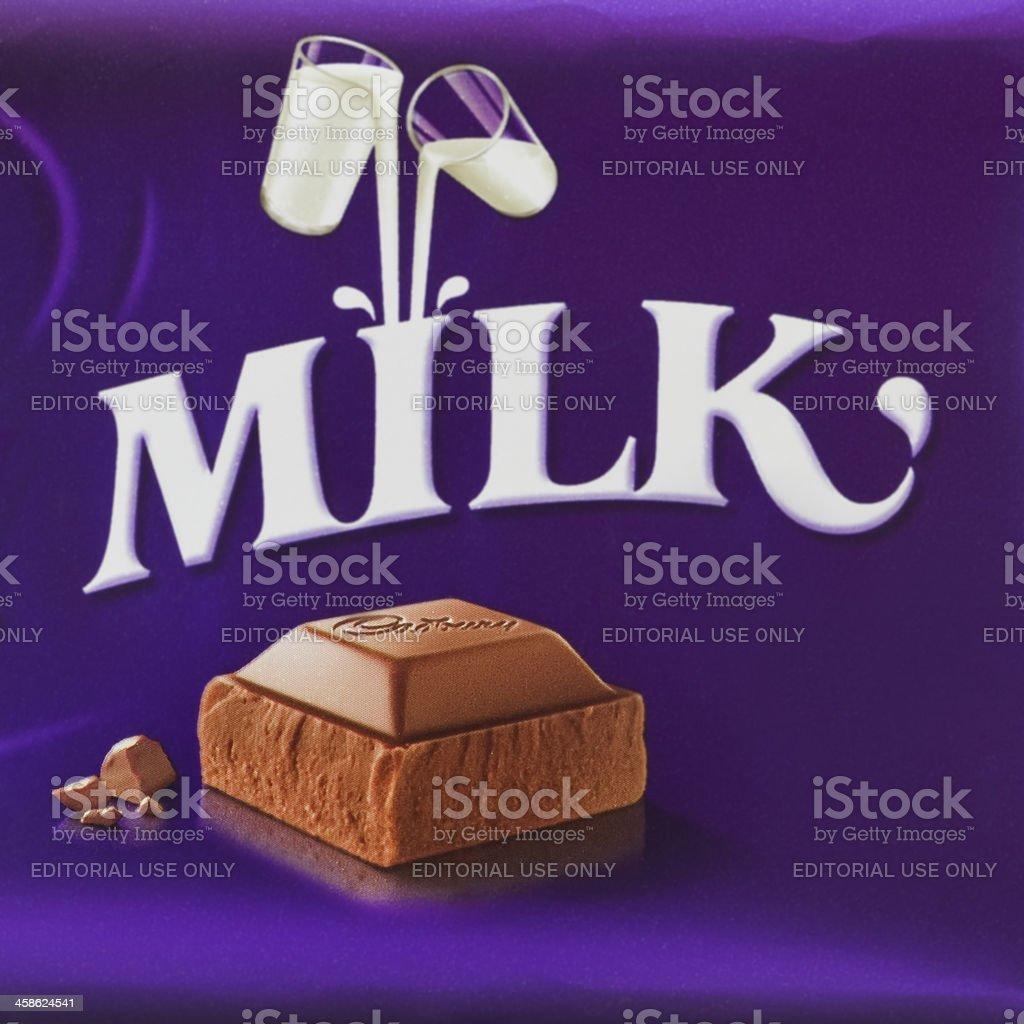 cadbury dairy milk chocolate bar wrapper royalty-free stock photo