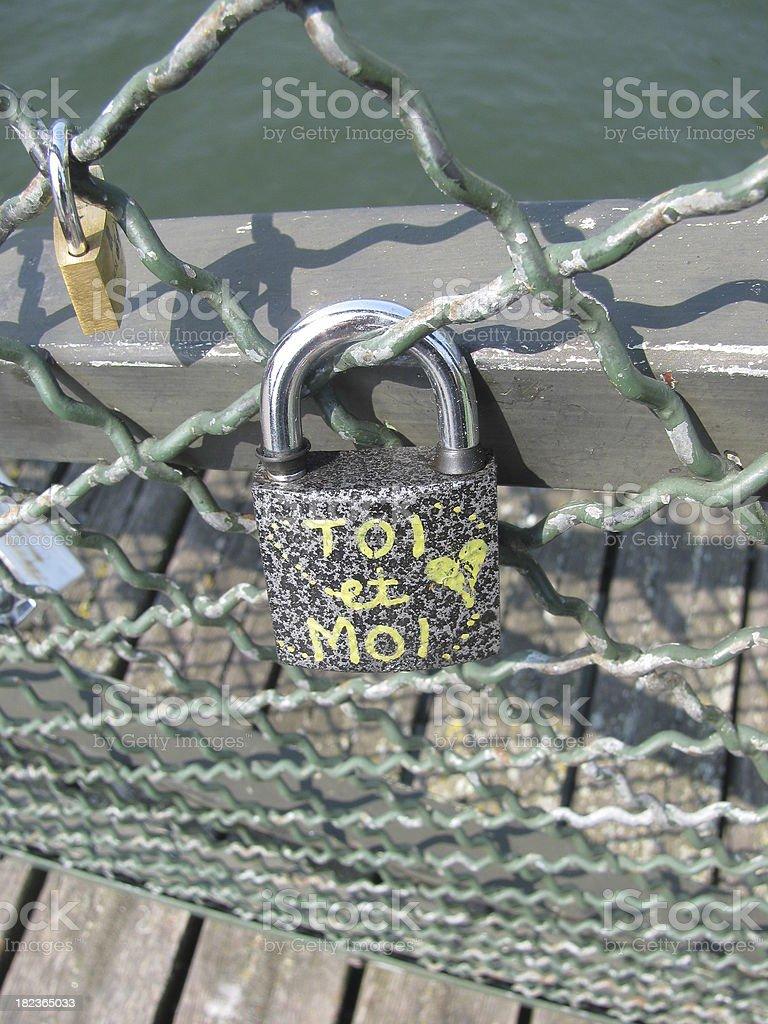 cadenas, amour, attache, toi et moi, love, close stock photo