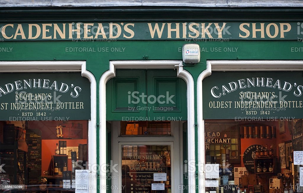 Cadenhead's Whisky Shop stock photo