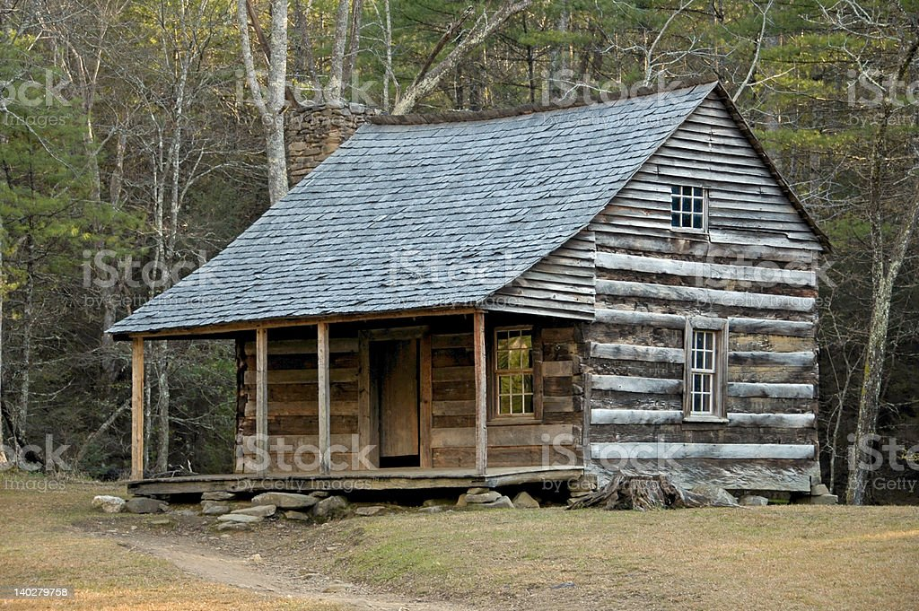 Cades Cove - Carter Shields Cabin royalty-free stock photo