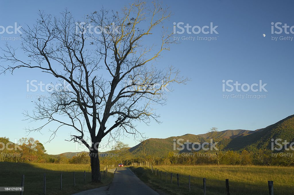 Cades Cove in Late October, Great Smoky Mountains, TN, USA stock photo