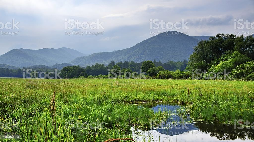 Cades Cove in the Smoky Mountains royalty-free stock photo