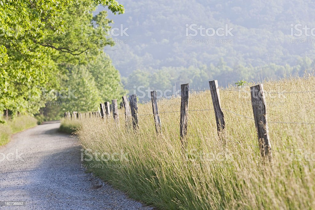 Cades Cove morning in the Smoky Mountains royalty-free stock photo