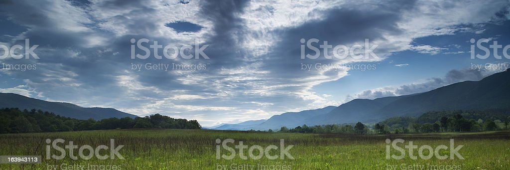 Cades Cove Panorama royalty-free stock photo