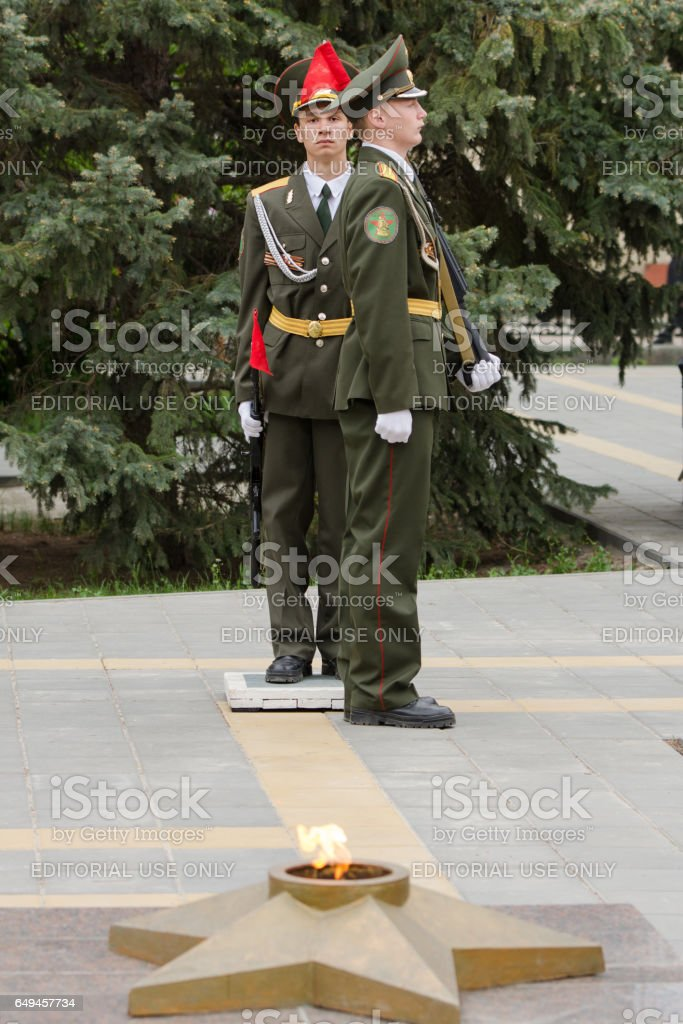 Cadet young guard change another guard of honor stock photo