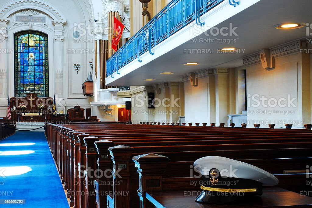 Cadet's Chapel, United States Naval Academy, Annapolis stock photo
