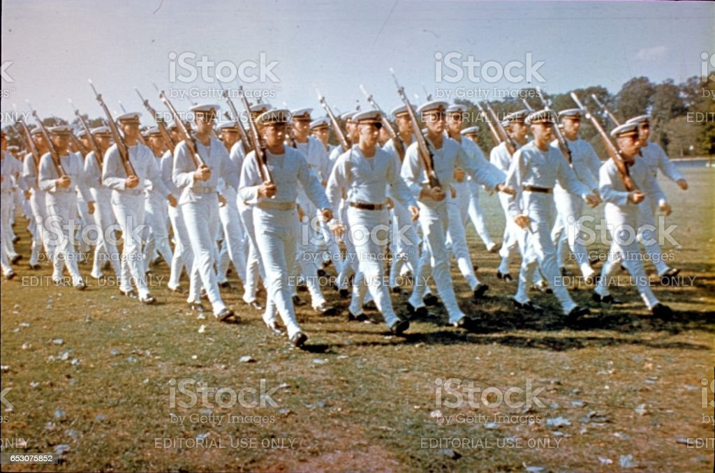 Cadets of the U.S. Naval Academy, 1964 stock photo