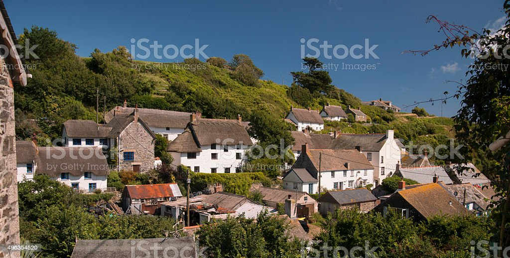 Cadgwith village stock photo