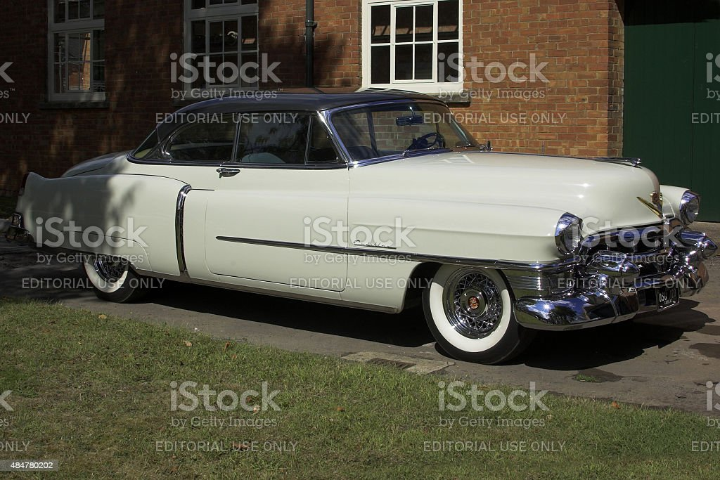 Cadilac Coupe DeVille from 1953 stock photo