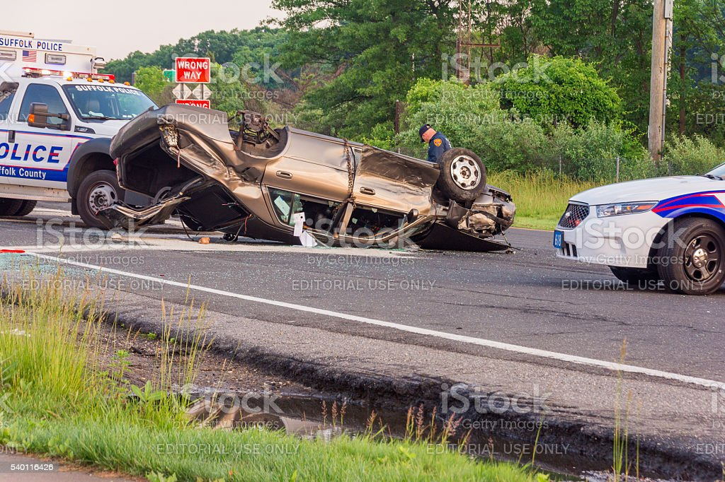 Cadillac Crash stock photo