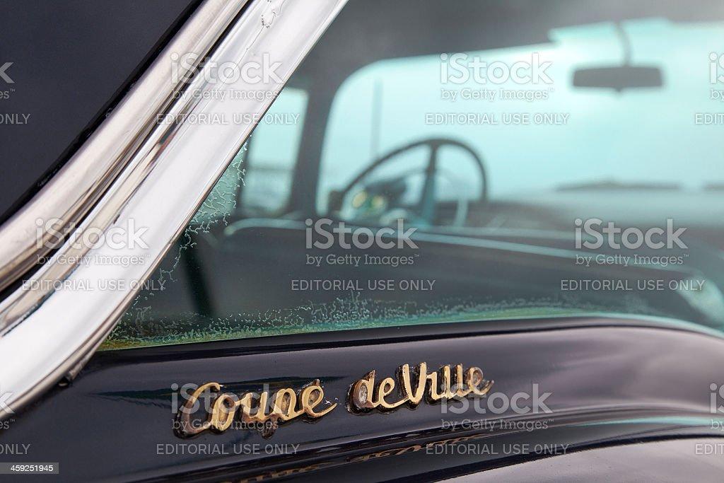 Cadillac logo detail stock photo
