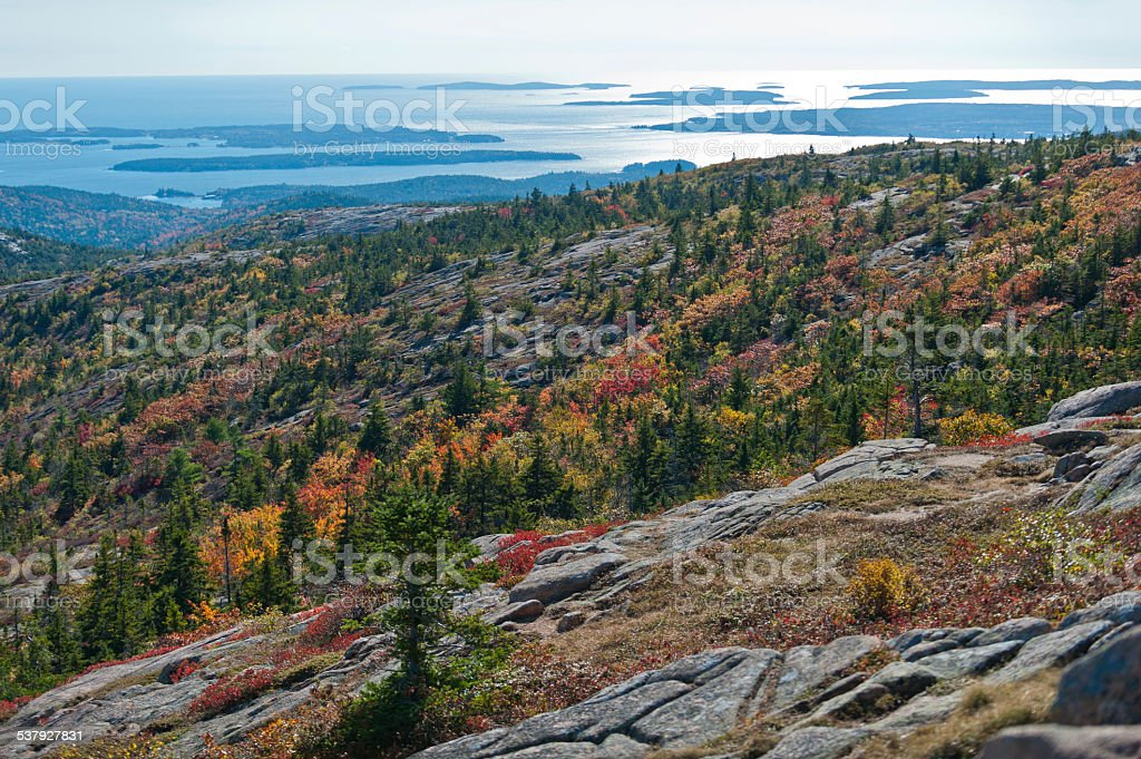 Cadillac Mountain, Acadia National Park stock photo