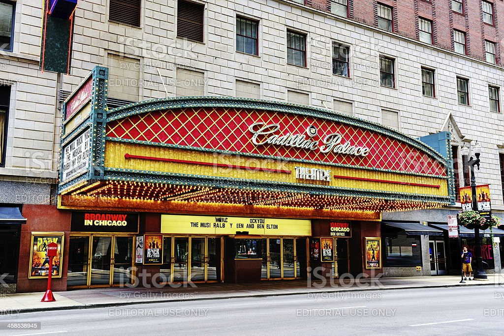 Cadillac Palace Theatre, downtown Chicago royalty-free stock photo