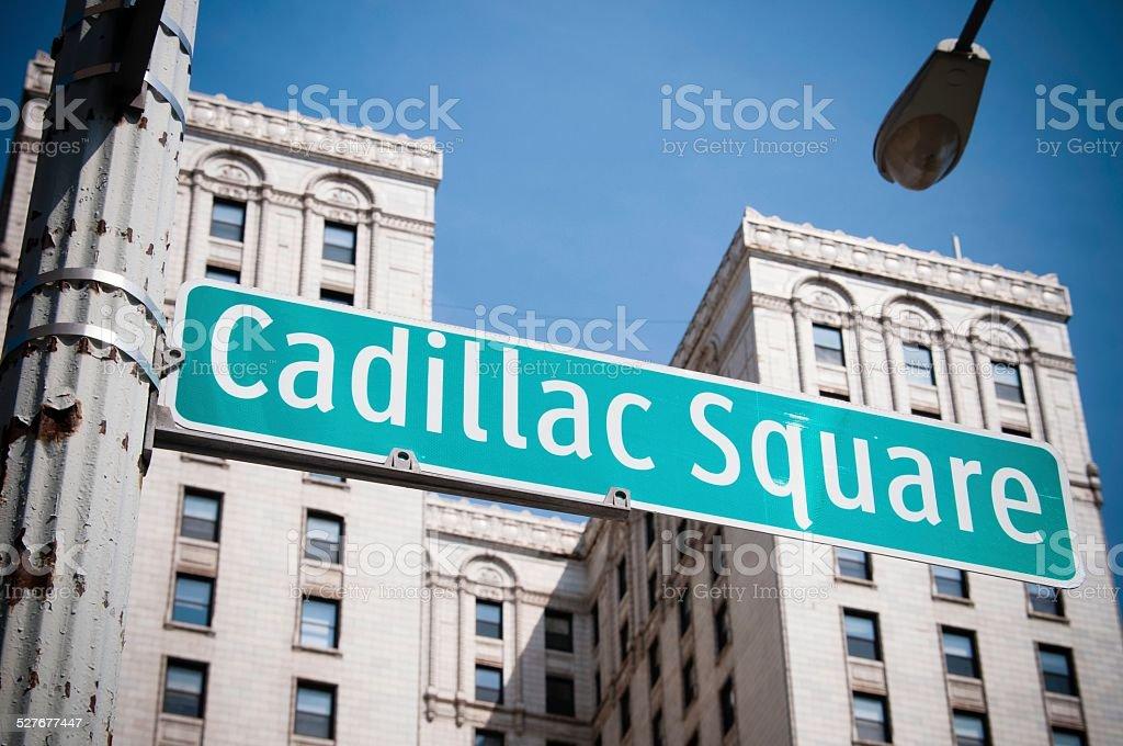 Cadillac Square, Detroit stock photo