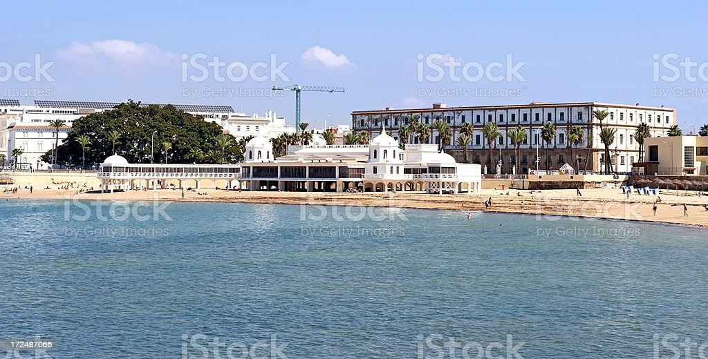 Cadiz beach royalty-free stock photo