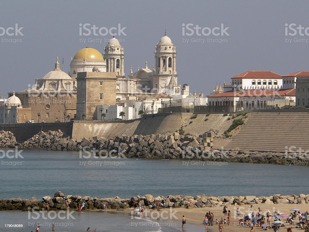 Cadiz beach royalty-free stock photo
