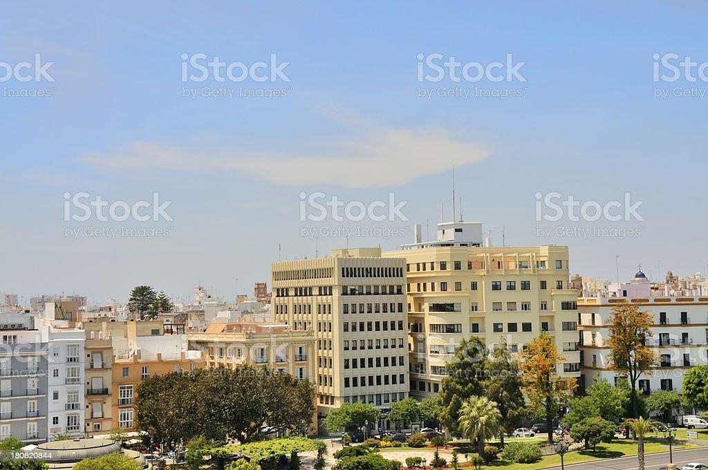 Cadiz Buildings royalty-free stock photo