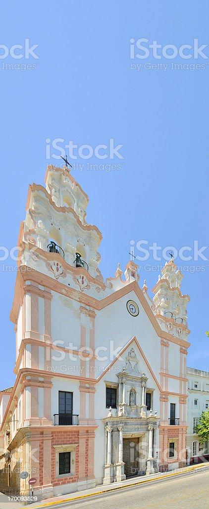 Cadiz Church of Carmen stock photo