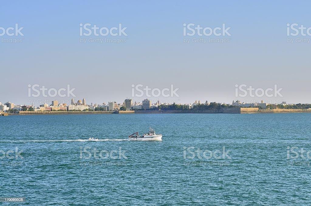 Cadiz Harbor Skyline royalty-free stock photo