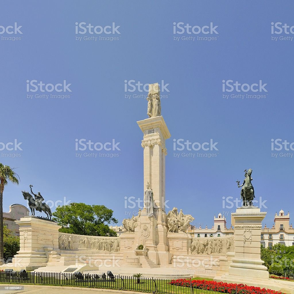 Cadiz Monument to the Constitution of 1812 royalty-free stock photo