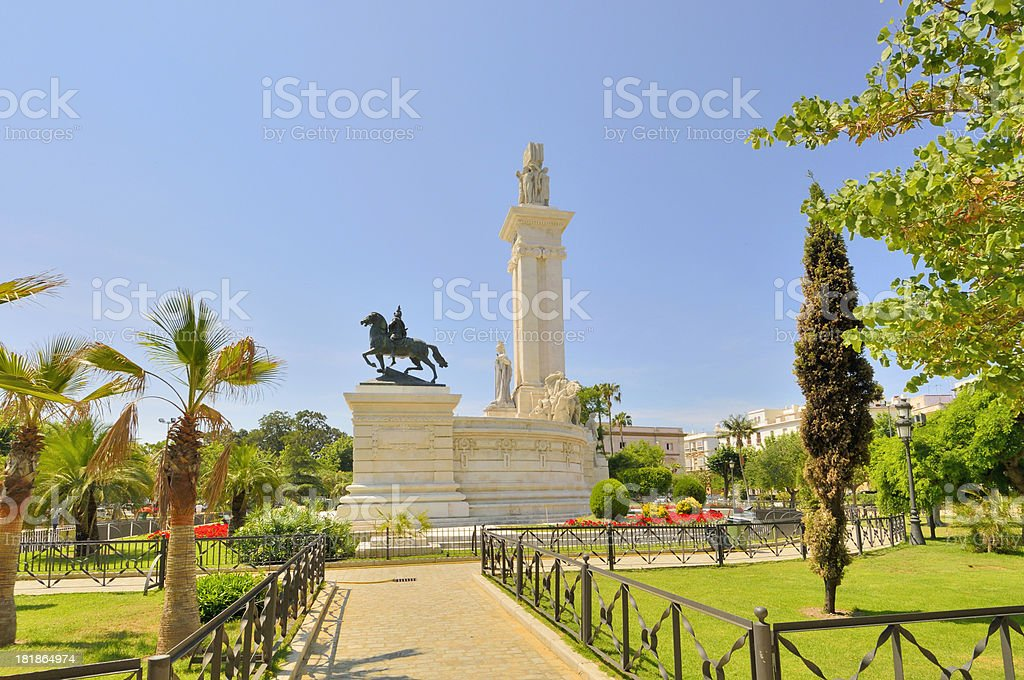 Cadiz Monument to the Constitution of 1812 Profile royalty-free stock photo