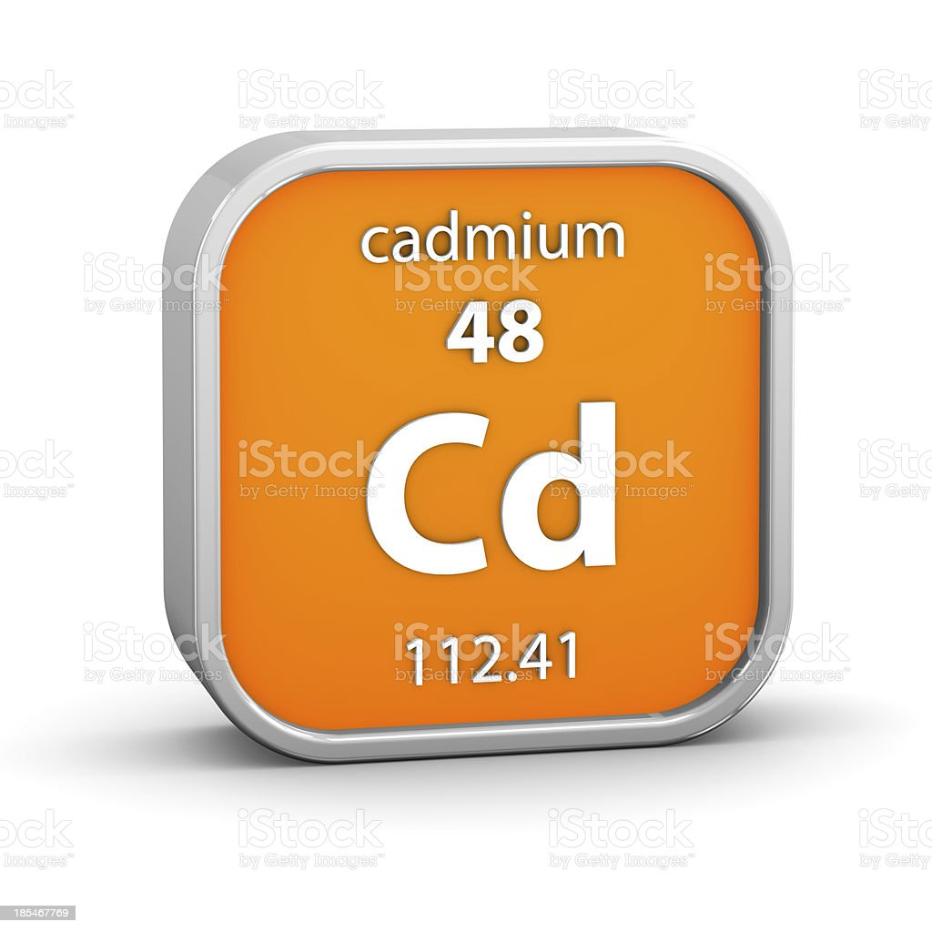 Cadmium material sign royalty-free stock photo