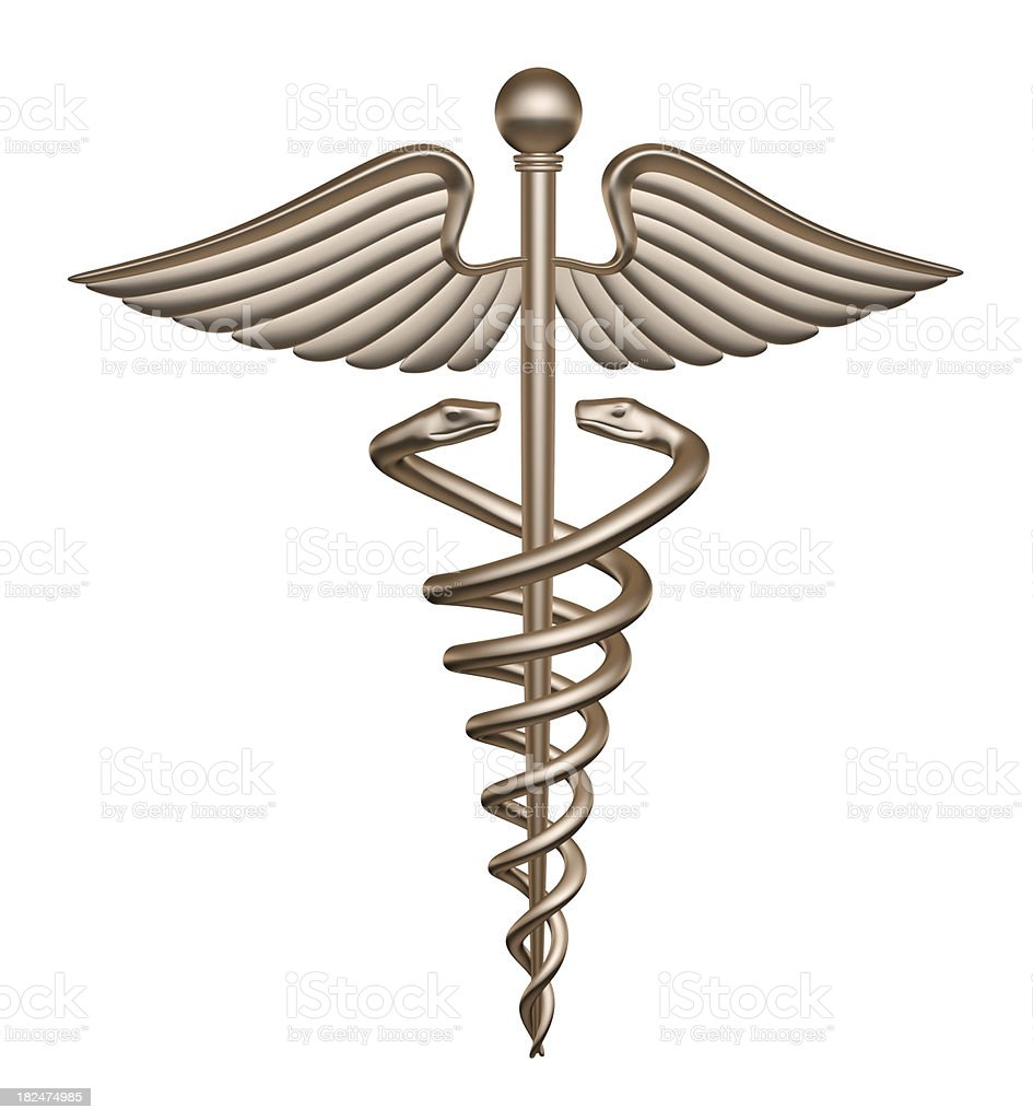 Caduceus Medical Symbol royalty-free stock photo