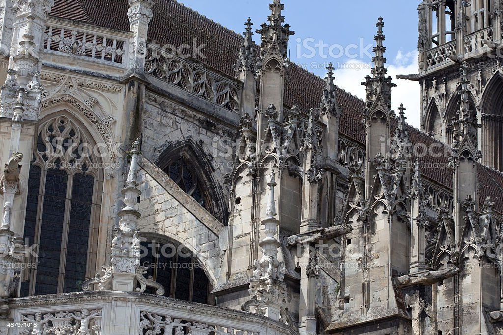Caen Kathedrale - Normandy stock photo
