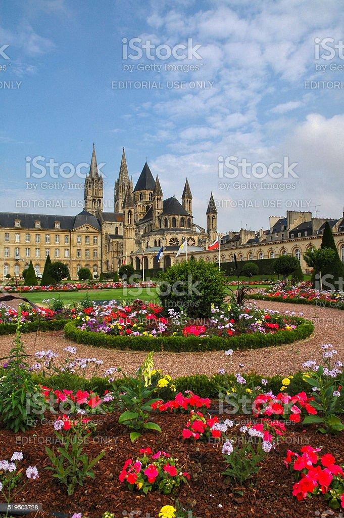 Caen, medieval abbey stock photo