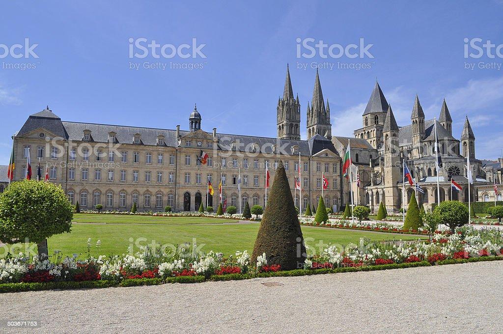 Caen Town Hall stock photo