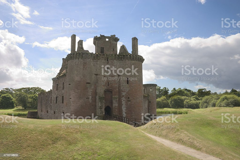 Caerlaverock Castle 3 royalty-free stock photo