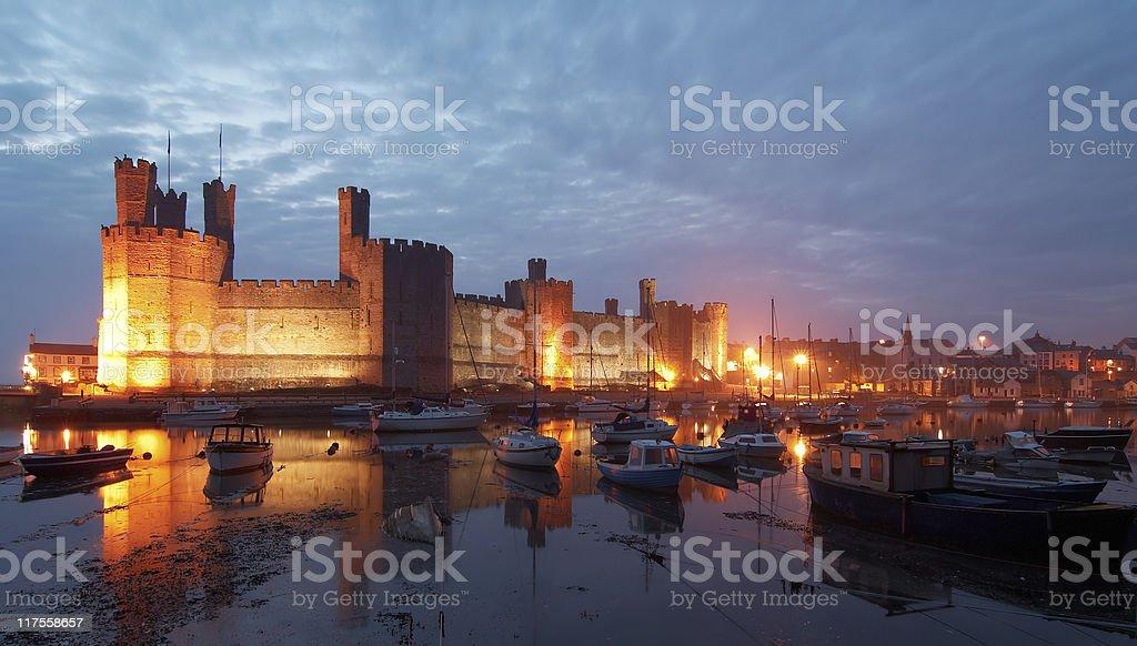 Caernarfon / Carnarvon Castle stock photo