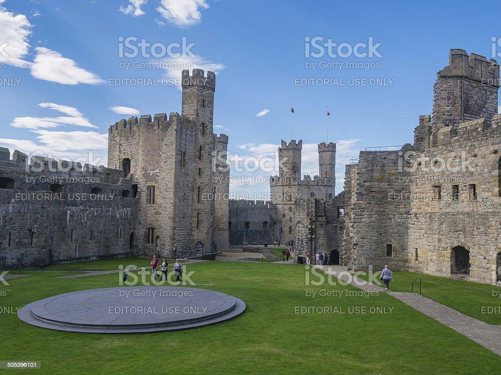 Caernarfon Castle, North Wales royalty-free stock photo