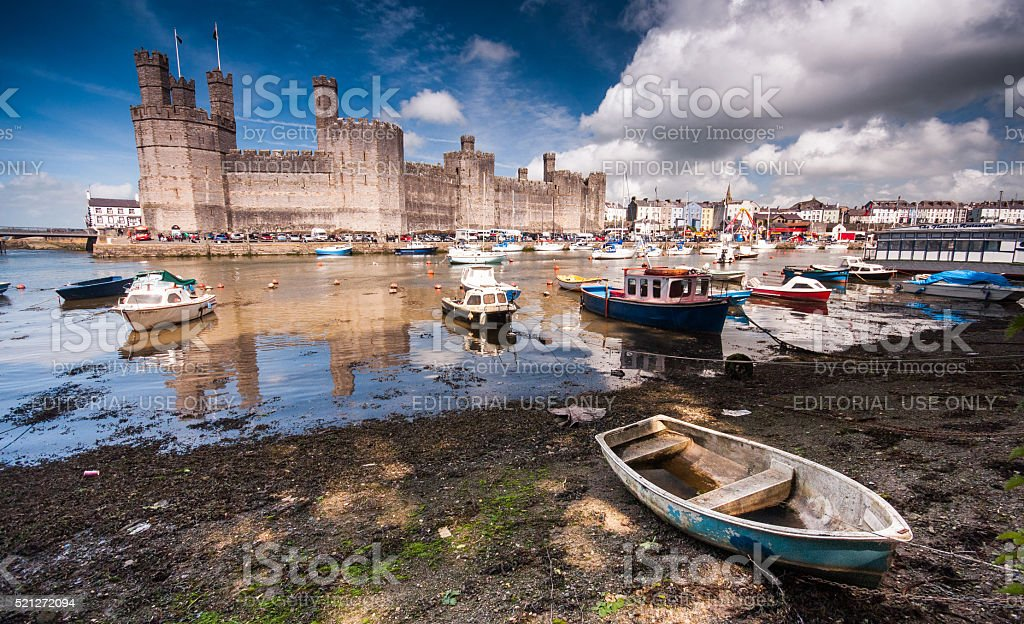 Caernarfon Castle stock photo