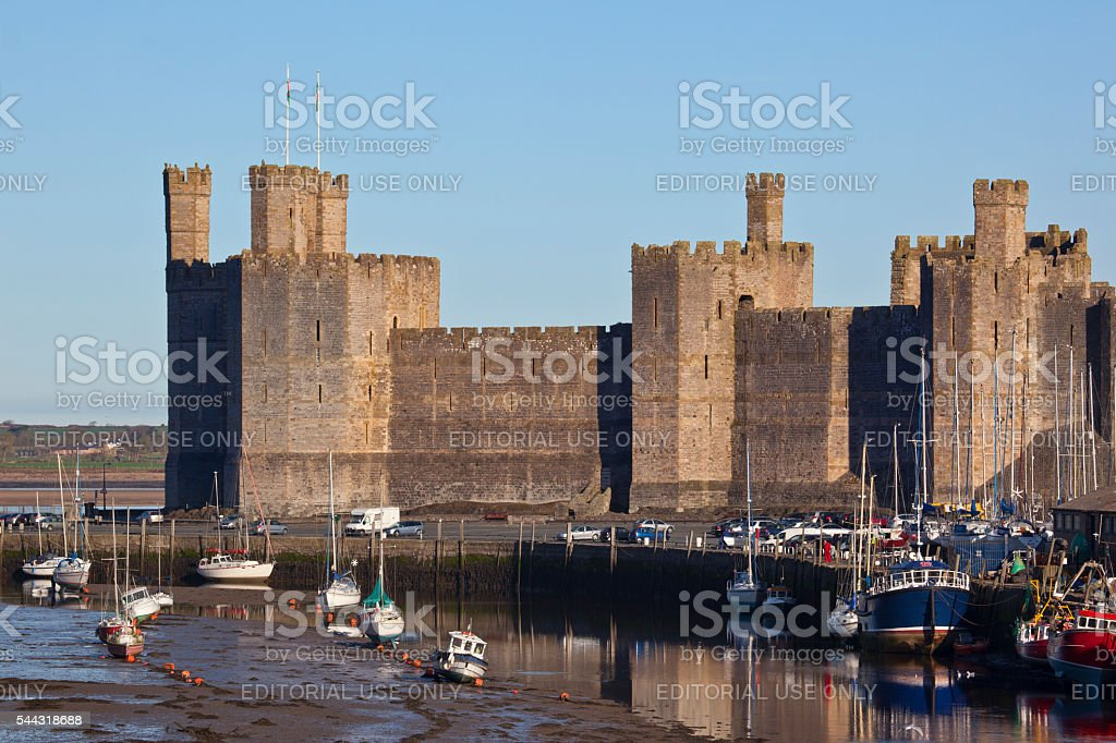 Caernarfon Castle - Wales stock photo