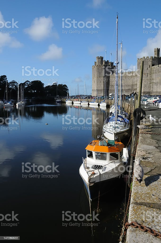 Caernarfon stock photo