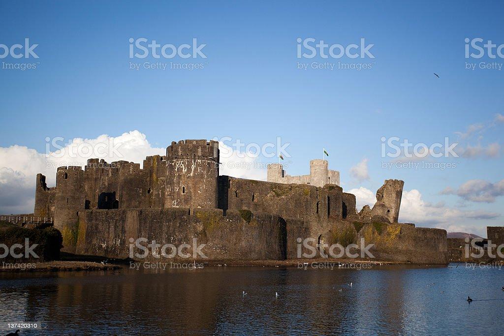 Caerphilly 城 ロイヤリティフリーストックフォト