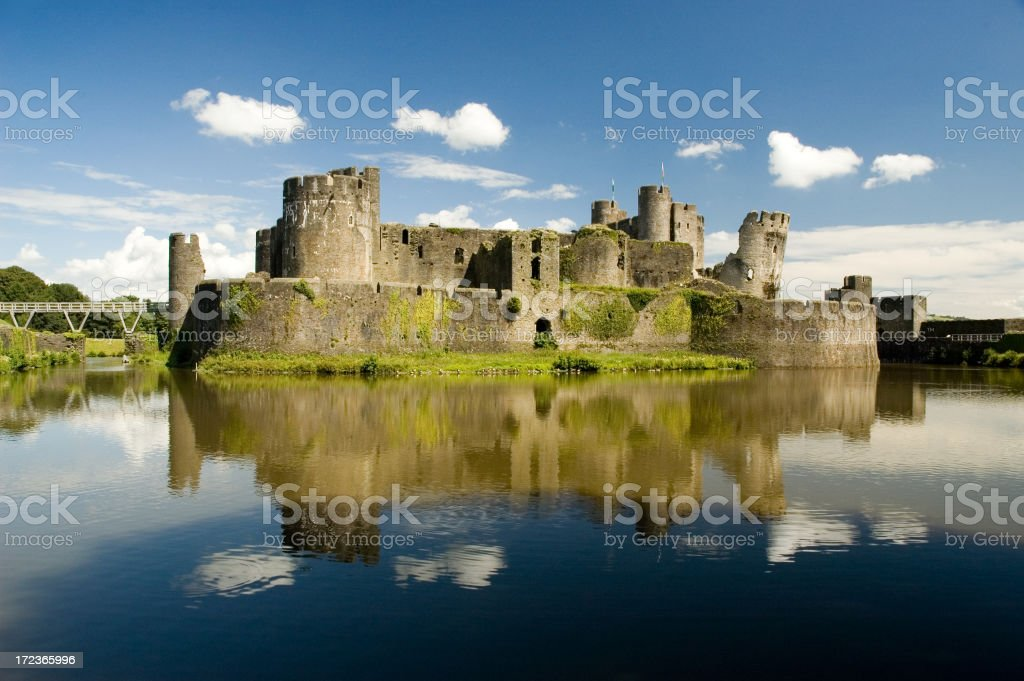 Caerphilly Castle royalty-free stock photo