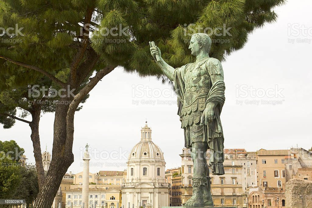 Caesar Augustus, Forum in Rome royalty-free stock photo
