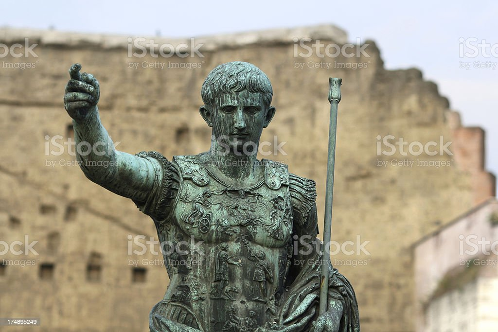 Caesar Augustus in Rome stock photo