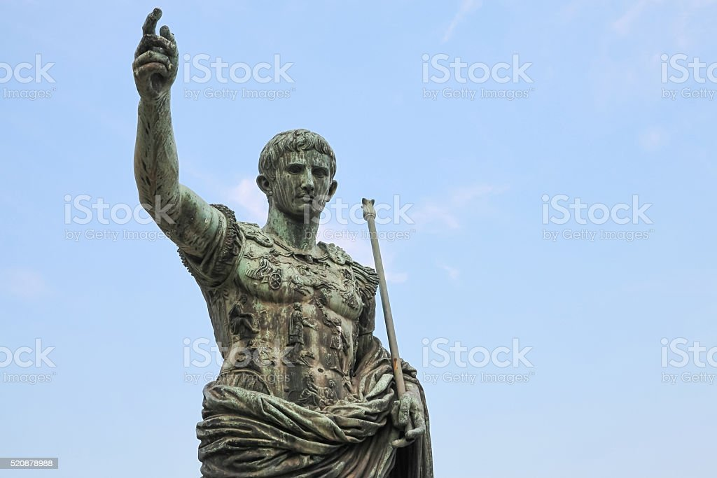 Caesar Augustus, statue in Rome, Italy stock photo