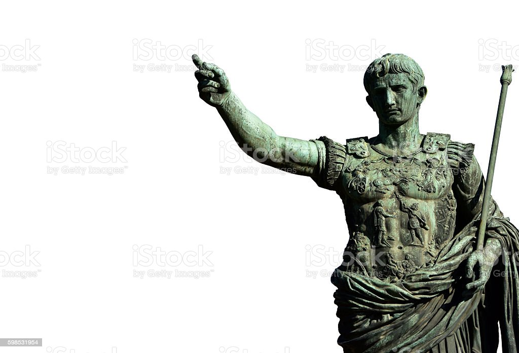 Caesar Augustus, the first emperor of Rome stock photo