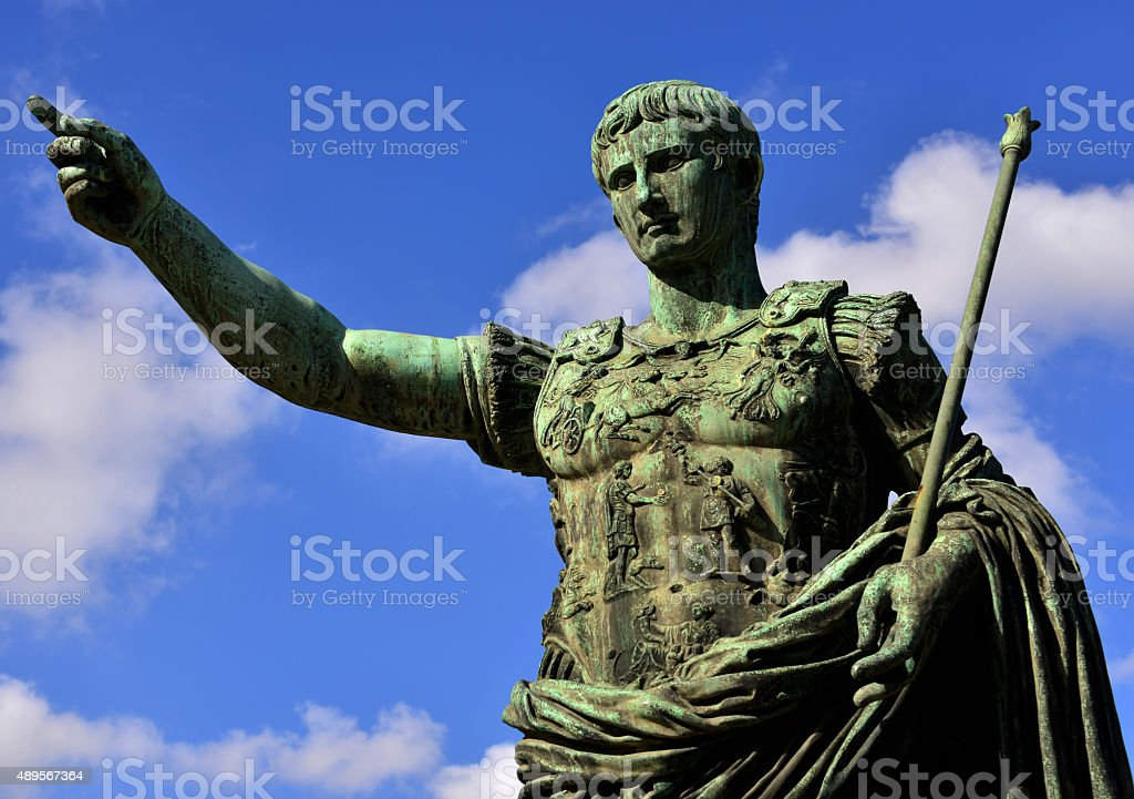 Caesar Augustus  the leader stock photo