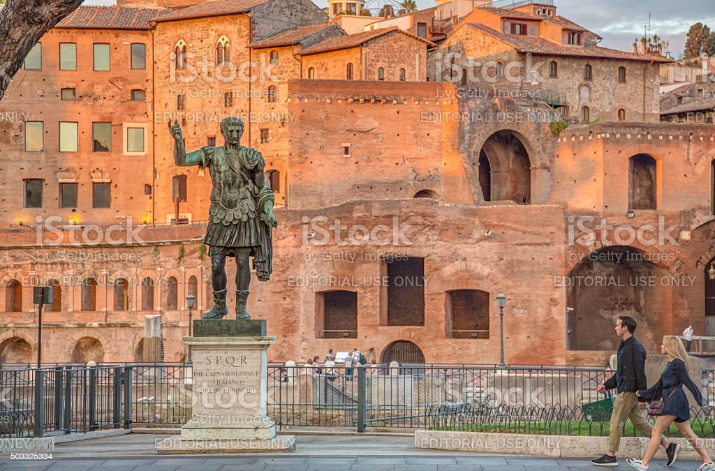 Caesar Augustus Traianus the victorious, Rome, Italy stock photo