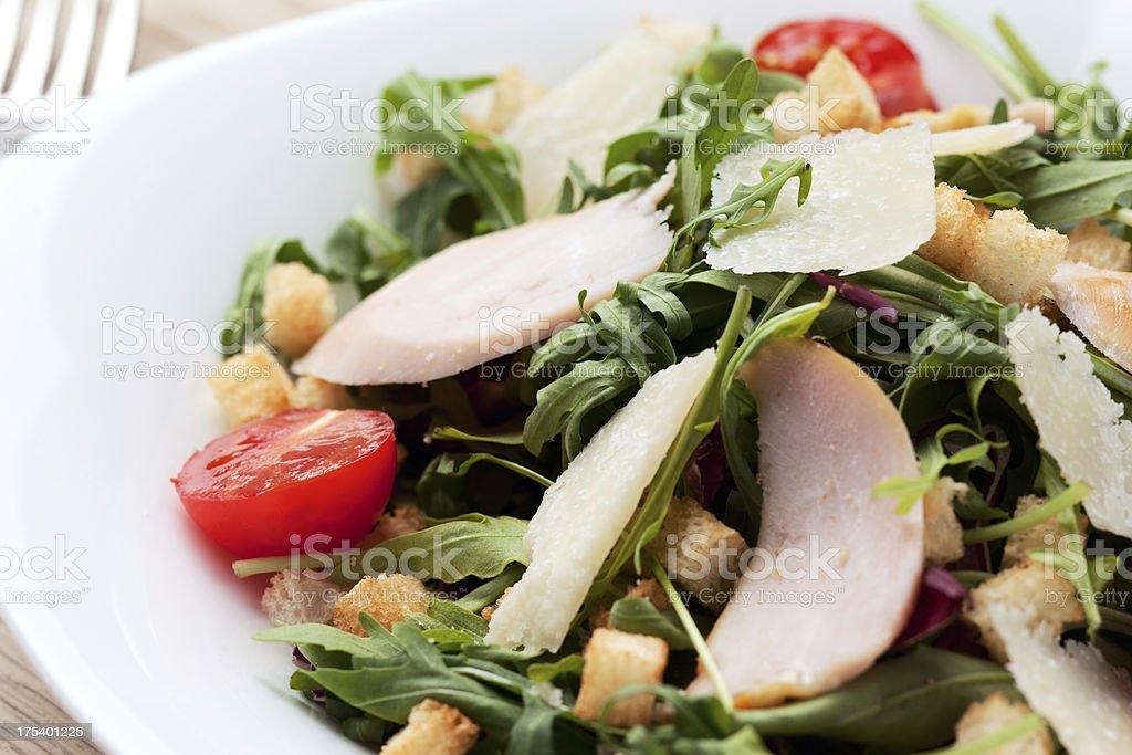Caesar chicken fillet salad royalty-free stock photo