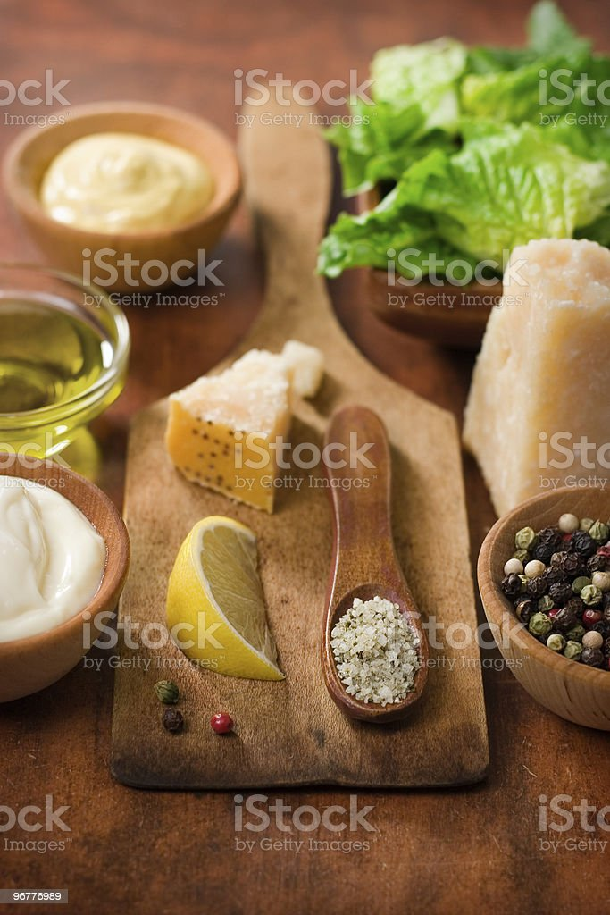 Caesar Ingredients stock photo
